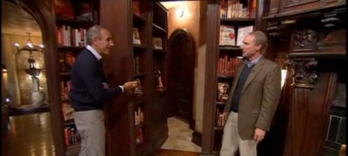 Dan Brown gives Matt Lauer a tour of his home.